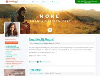 emmamorris.theworldrace.org screenshot