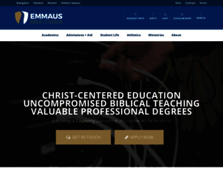 emmaus.edu screenshot