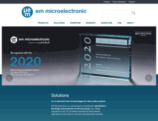 emmicroelectronic.com screenshot