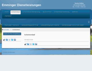 emminger-pool.de screenshot