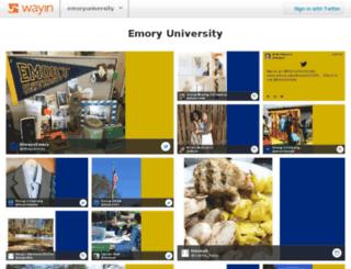 emory.wayinhub.com screenshot