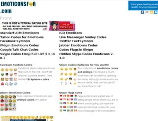 emoticonsfor.com screenshot