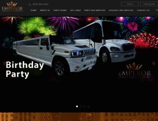 emperorlimousine.com screenshot