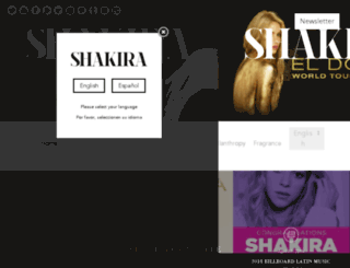 empire.shakira.com screenshot