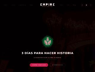 empiremusicfestival.com screenshot