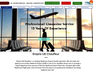 empireukchauffeur.com screenshot