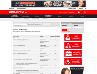 empleo.universia.edu.pe screenshot