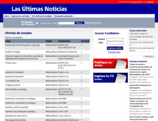 empleos.lun.com screenshot