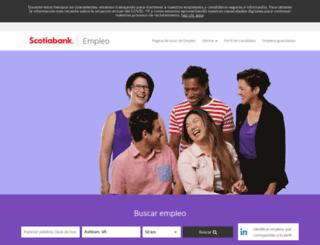 empleos.scotiabank.com screenshot