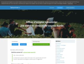 emploi-saisonnier.com screenshot