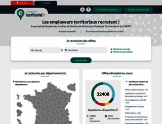 emploi-territorial.fr screenshot