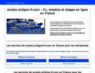emploi.enligne-fr.com screenshot