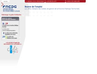 emploi.fncdg.com screenshot