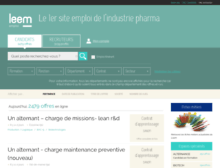 emploi.leem.org screenshot