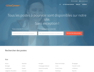 emploi.livecareer.fr screenshot