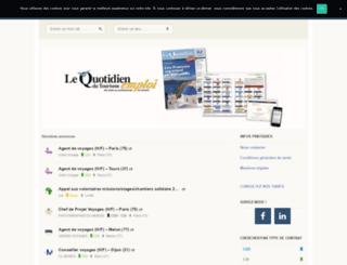 emploi.quotidiendutourisme.com screenshot