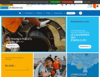 emploiformationpaca.org screenshot