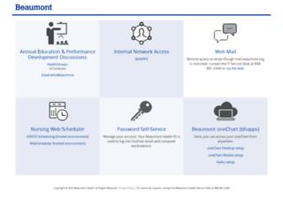 employee.beaumont.org screenshot