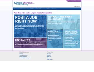 employer.miracleworkers.com screenshot