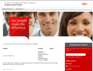 employment.fujitsu.com.au screenshot
