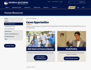 employment.georgiasouthern.edu screenshot