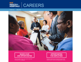 employment.nychhc.org screenshot