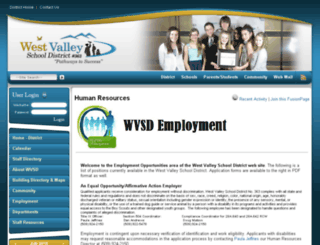 employment.wvsd.org screenshot