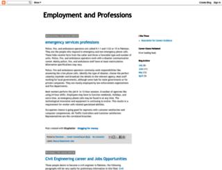 employmentandprofessions.blogspot.com screenshot