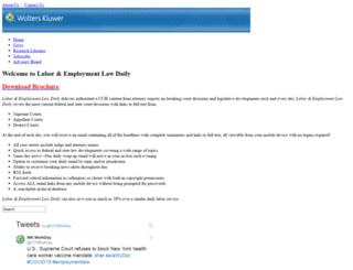 employmentlawdaily.com screenshot