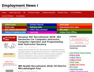 employmentnews24.com screenshot