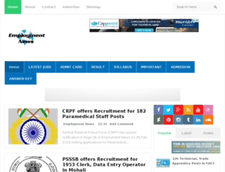 employmentnewsgov.in screenshot