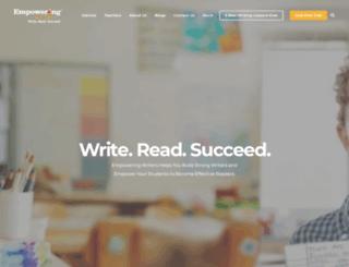 empoweringwriters.com screenshot