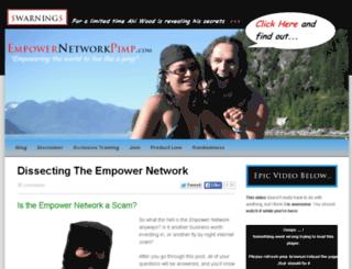 empowernetworkpimp.com screenshot