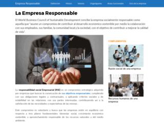 empresaresponsable.com screenshot