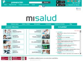 empresas.fraternidad-prevencion.com screenshot
