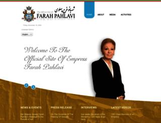 empressfarahpahlavi.org screenshot