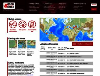 emsc-csem.org screenshot