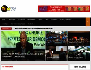 emtv.com.pg screenshot