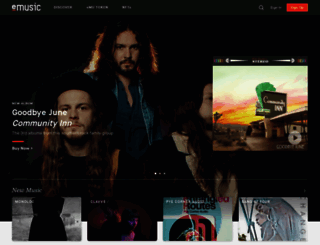 emusic.com screenshot