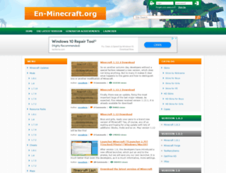 en-minecraft.org screenshot