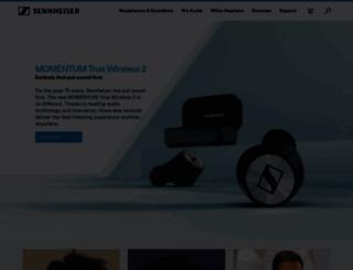 en-uk.sennheiser.com screenshot