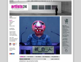 en.artists.de screenshot