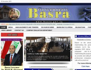 en.basrahgov.com screenshot