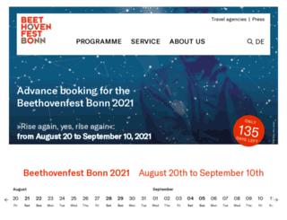 en.beethovenfest.de screenshot