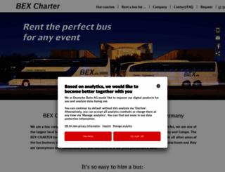 en.bex.de screenshot