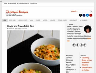 en.christinesrecipes.com screenshot