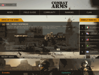 en.combatarms.nexoneu.com screenshot