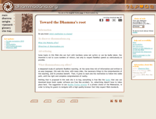 en.dhammadana.org screenshot