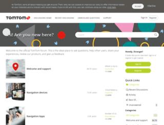 en.discussions.tomtom.com screenshot