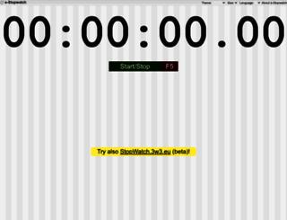 en.e-stopwatch.eu screenshot
